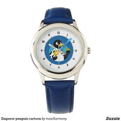 Emperor penguin cartoon wristwatches
