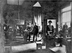 Cavendish Laboratory : Searle in a physics practical class Wolverhampton, Image Shows, Iris, Physics, Lilac, Instruments, Science, Women, Syringa Vulgaris
