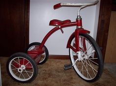 vintage tricycle...our son had one of these.