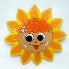 Slunce velké 27 cm Clay Projects, Clay Crafts, Diy Art, Holidays With Kids, Air Dry Clay, Felt Art, Paper Mache, Garden Art, Polymer Clay