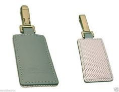 LACOSTE-KEYRING-KEY-FOB-Leather-Club-Collection-2-Chrome-Blue