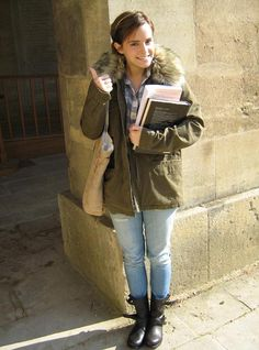 Emma Watson on her first day at Oxford :)