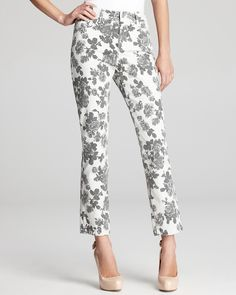 Floral jeans - yay or nay? - Not Your Daughter's Jeans Alisha Ankle Jeans in Wild Rose Print