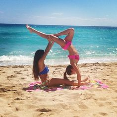 Beach Best Friends Summer this one might be a bit easier @Honor Anne , I'll do the handstand ;)