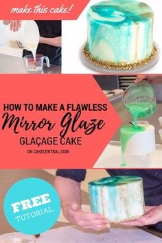 You've probably seen shiny smooth cakes all over social media recently. It's called Glaçage or Mirror Glaze....
