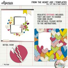 From The Heart #2 by Akizo Designs | Digital Scrapbooking Template
