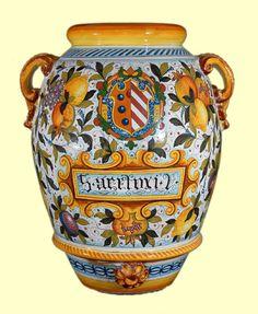 Orcio decoro Araldico cm. 75 - Orci - Amalfi Coast Ceramics