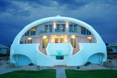 Absolutely love this house! It's a monolithic dome home - all concrete, made for hurricane prone areas.  Hint, hint Mark!