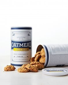 Oatmeal Cookie Labels | Love It...turn an ordinary oatmeal container into a customized gift giving canister