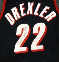 402f233f9 Clyde Drexler Autographed Portland Trailblazers Champion Pro Cut Jersey  Signed Twice PSA DNA Clyde Drexler