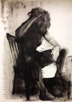Charcoal & acrylic on Mylar- Karen Darling