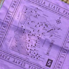 Bandanas: Minnesota State Parks Map