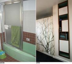 Mid Century Modern Bathroom Remodel the color green in kitchen and bathroom sinks, tubs and toilets