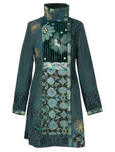 Patchwork Embroidered Coat in my dramatic (Spicy)