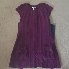 Purple dress Cable knit purple dress Style & Co Dresses