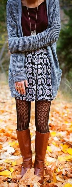 #street #style fall / oversized gray cardigan...