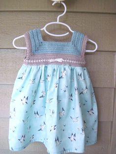 Crochet vestido de bebé vestido del bebé vestido del verano