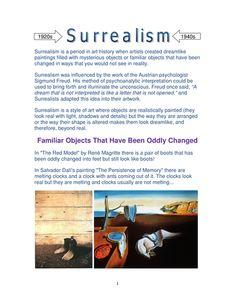 Surrealism Worksheets