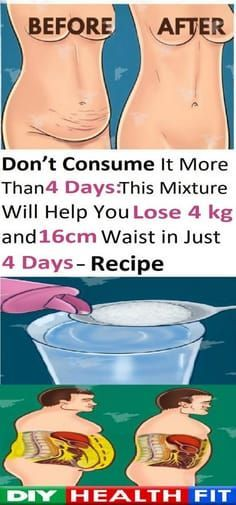 DON'T CONSUME IT MORE THAN 4 DAYS – THIS MIXTURE WILL HELP YOU LOSE 4 KG AND 16 CM WAIST ( RECIPE)