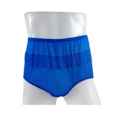 60e3ee81a0 JY06 Royal Blue Silky Nylon Panties Women Men Floral Knickers Briefs
