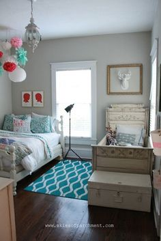 Charming Home Tour. The kids room at Skies of Parchment