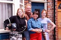 Jane as Leanne (left) when she first started on Corrie in 1997 with the rest of the Battersbys Coronation Street Cast, Tv Soap, Get Fresh, Television Program, Street Photo, Manchester, Georgia, Couple Photos, People