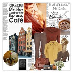 Cafe society by mimjersey on Polyvore featuring polyvore, fashion, style, Dorothy Perkins, Miss Selfridge, J Brand, H&M, Christian Dior, AMOUAGE, Bare Escentuals, clothing, skinny jeans, trench coats and lace up boots