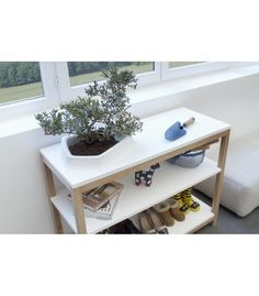 La console Volcane est un parfait compromis entre praticité et esthétisme. Offrant un réel espace de rangement, elle s'intègre facilement dans un salon ou une entée. Son pot accueille aussi bien une plantes que des magazines, il apporte une touche de nature dans les intérieurs.