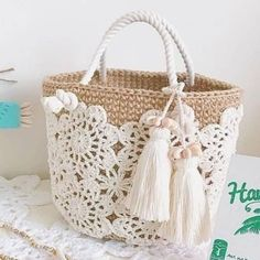 Trendy Ideas for knitting bag sewing crochet Crochet Shell Stitch, Crochet Tote, Crochet Handbags, Crochet Purses, Free Crochet, Knit Crochet, Crochet Backpack, Tapestry Crochet, Purse Patterns