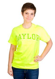 Cute neon Baylor Bears shirt