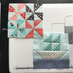 "6.5"" Pinwheel and Sailboat quilt blocks, as part of Jen's Filler Blocks on heritage-threads.com"