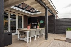 Outdoor Patio Designs, Outdoor Spaces, Outdoor Decor, Outdoor Living, Garden Room Extensions, Patio Roof, Roof Design, Garden Inspiration, Land Scape