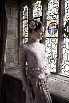 Rowan Magazine 54. From the story, Romancing, comes Salome designed by Vibe Ulrik using Kidsilk Haze.