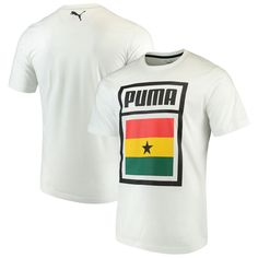 f029ea97e Ghana National Team Puma Forever Football Country Cotton T-Shirt – White