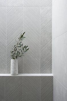 Bathroom Renos, Laundry In Bathroom, Bathroom Flooring, Stone Bathroom Tiles, Textured Tiles Bathroom, Bathroom Feature Wall Tile, Stone Tiles, Washroom, Restroom Design