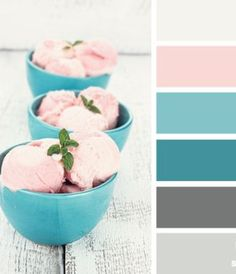 Beautiful, calming colors for a bedroom or bathroom #Interiors #Decoration