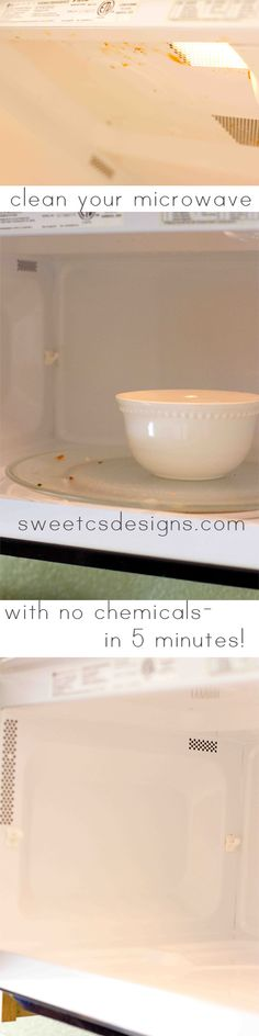 Clean Your Microwave & Range Grate in Under 5 Minutes With No Chemicals! - Sweet C's Designs