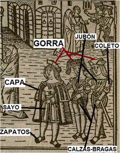 - OPUS INCERTUM -: 1514 prints of La Celestina (detail) Spanish Dress, Classical Antiquity, Spanish Fashion, French Words, Italian Renaissance, European History, Dark Ages, Moorish, 14th Century