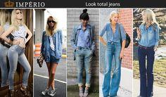 Para fechar bem o dia, inspire-se na combinação denim + denim. Além de estar super em alta, misturar jeans com lavagens diferenciadas ou não torna qualquer look despojado e jovial.