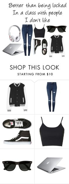 """On the go home schooling"" by unknownandloveit on Polyvore featuring MANGO, Miss Selfridge, Vans, Topshop and Ray-Ban"