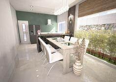 Modelagem 3D - Sala de Jantar e Cozinha