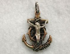 Mexican Sterling Silver Mariners Cross with Our by CobayleyToo, $48.00