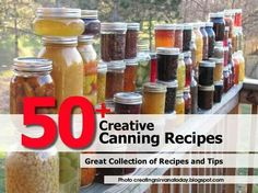 Creative Canning Recipes to love and share! Gardening season is started.what goodies are you planning to can? Check out these great recipes and let the canning begin! Canning Tips, Home Canning, Canning Recipes, Canning Food Preservation, Preserving Food, Great Recipes, Favorite Recipes, Canned Food Storage, So Little Time