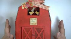 October Afternoon Farm Girl Barn Mini Album Scrapbook