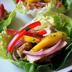 Grilled Chicken Lettuce Wraps with Mango Slaw | 12 Ways to Spruce Up Your Supper This Spring