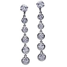 Bezel Drop Earring Jackets Earrings Diamonds By The Yard Gold Platinum