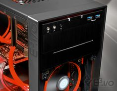 Scorpion Gaming PC - Slim Multi Slot Load Optical Drive with side logo view and open front cover.