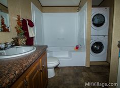 Bathroom with washer and dryer | Flickr - Photo Sharing!