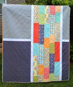 A Blue Sky Kind of Life: Pinwheel Pods Quilt finished!