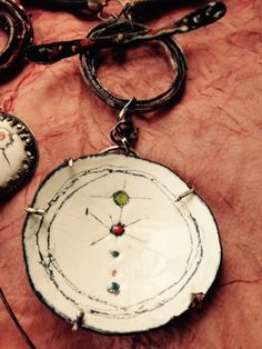 Susan Lenart Kazmer new work in Liquid Enamels and Sgraffito Ceramic Jewelry 8178f90a3268